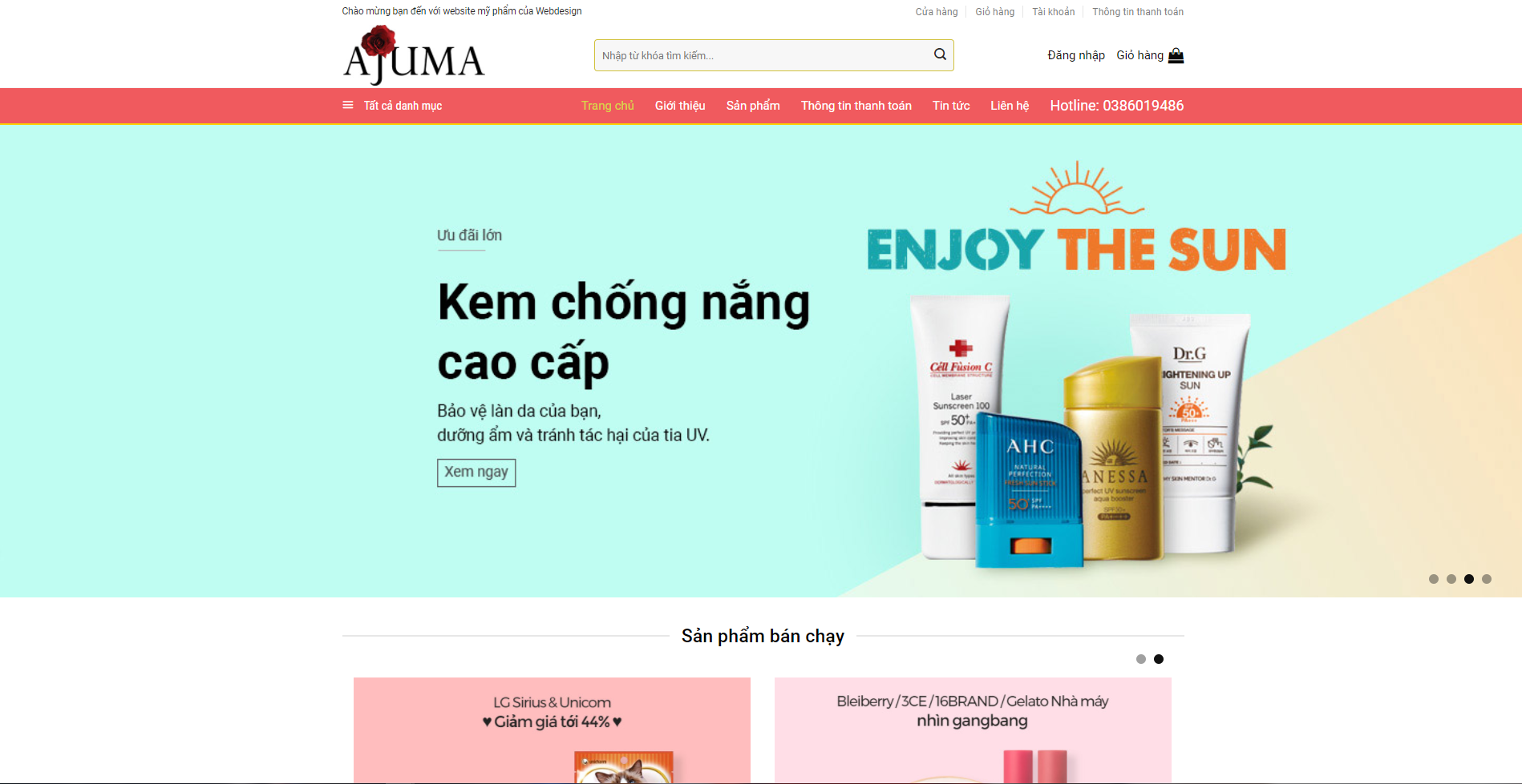 Web mỹ phẩm Ajuma