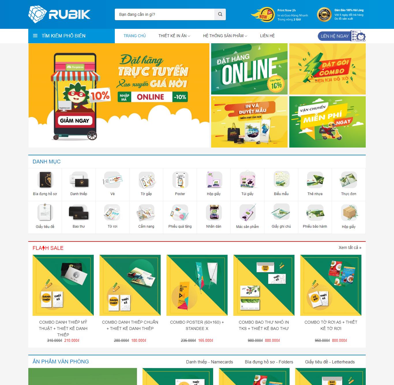 Sourcecode web TMĐT ngành in ấn Rubik