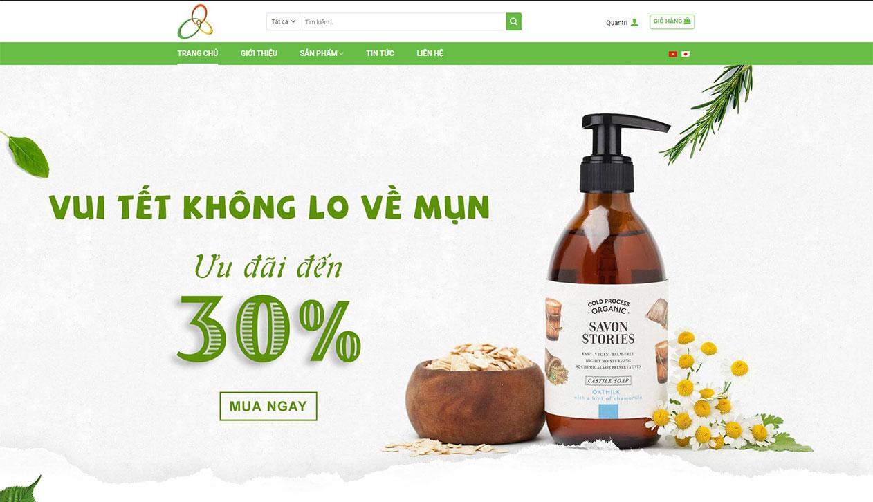 Web mỹ phẩm Sankyo